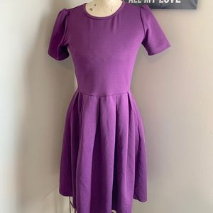 Purple LuLaRoe Amelia Dress